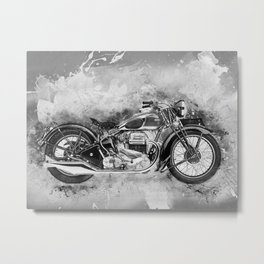 Vintage Motorcycle No2 Metal Print