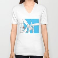 wind V-neck T-shirts featuring Wind  by Jonas Ericson