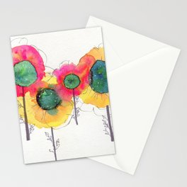 Galaxy Flowers Stationery Cards
