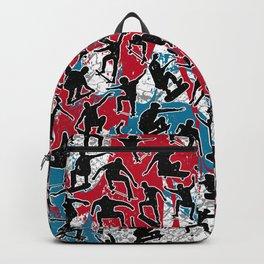 Skater Retro Urban Graffiti Backpack
