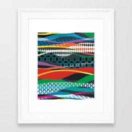Wave Blaze Framed Art Print