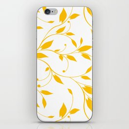FLOWERY VINES | white yellow iPhone Skin