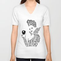 evil queen V-neck T-shirts featuring The Evil Queen by Achiib