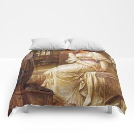 "John Melhuish Strudwick ""Elaine"" Comforters"