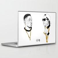 kendrick lamar Laptop & iPad Skins featuring Kendrick Lamar by Timothy McAuliffe