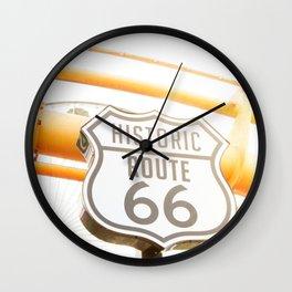 Travel photography Santa Monica VIII Ferris wheel Wall Clock