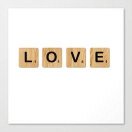 Scrabble - Love Canvas Print