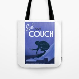 Surf Your Couch Tote Bag