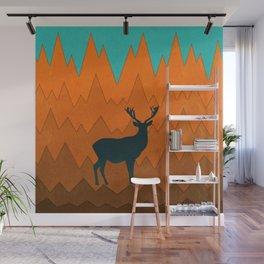 Deer silhouette in autumn Wall Mural