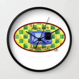 Viva La Asparagus Wall Clock
