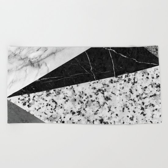 Marble and Granite Abstract Beach Towel