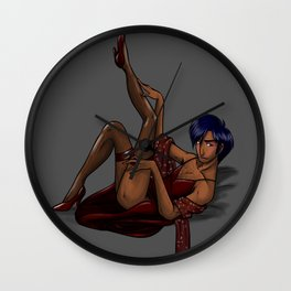 This is a man's dress Wall Clock