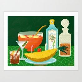 Party Drinks Art Print