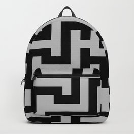 Black and Gray Labyrinth Backpack