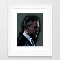 obama Framed Art Prints featuring OBAMA by Marc Rodriguez