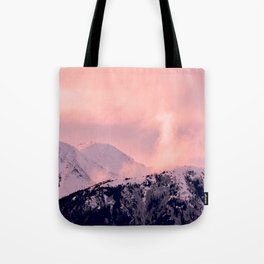 Kenai Mts Bathed in Serenity Rose - II Tote Bag