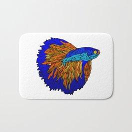 Betta Fighting Fish _ Orange Bath Mat