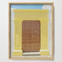 Door in Greece Serving Tray