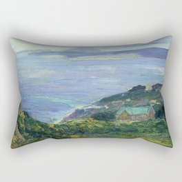 African American Masterpiece 'Coastal Landscape, France, 1912' by Henry Ossawa Tanner Rectangular Pillow