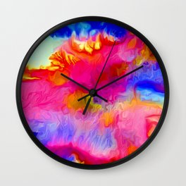 Coral Reef Forms Wall Clock