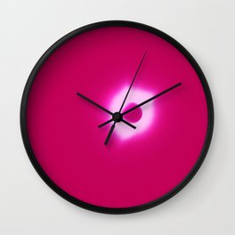 Total Eclipsy Eclipse 2 - 2017 - Pink Wall Clock