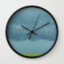 Storm Clouds // Landscape Photography Wall Clock