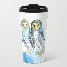 Blue Owls Travel Mug