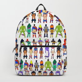 Superhero Butts - Power Couple on Violet Backpack