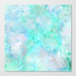 Irridescent Aqua Marble Canvas Print