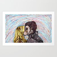 captain swan Art Prints featuring Captain Swan by The Holga Contessa