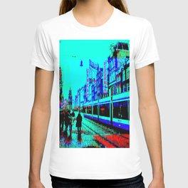 Amsterdam Evening in the Rain Pixelart T-shirt