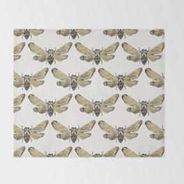 Summer Cicada – Black & Gold Palette Throw Blanket