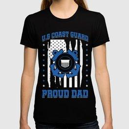 U.S Coast Guard Proud Dad Fathers Family Gift T-shirt