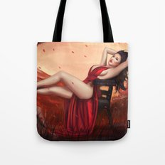 Red Knight Tote Bag