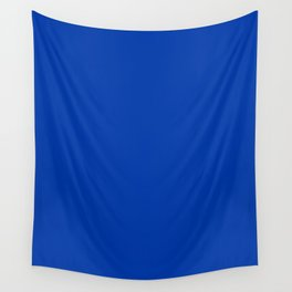 Royal azure - solid color Wall Tapestry