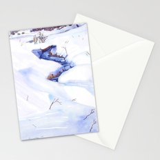 Open Stream In Winter Stationery Cards