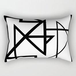 Black & White Minimal Design Nr. 2 Rectangular Pillow