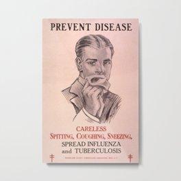 Vintage poster - Prevent Disease Metal Print