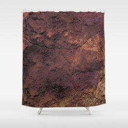 Dark red wall Shower Curtain