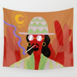 Sunglasses at night. Wall Tapestry