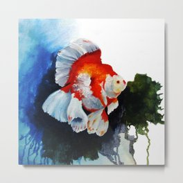 Ryukin Goldfish Metal Print