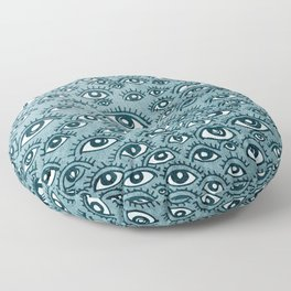 Human eyes pattern Floor Pillow
