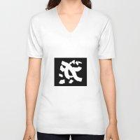 typo V-neck T-shirts featuring Haiku typo by Manimoo