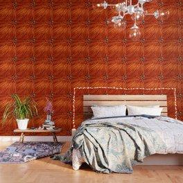 Burnt Orange Pixel Wind Wallpaper