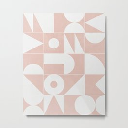 My Favorite Geometric Patterns No.11 - Pale Pink Metal Print