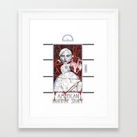 ahs Framed Art Prints featuring AHS Countess by Sergiomonster