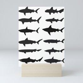 Shark Silhouettes Mini Art Print