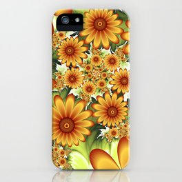 A Floral Dream Of Summer, Fractals Art iPhone Case