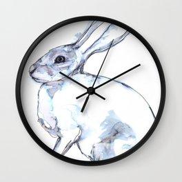 Hare on alert Wall Clock