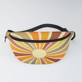 Sunshine & Rainbow Retro Pattern Fanny Pack